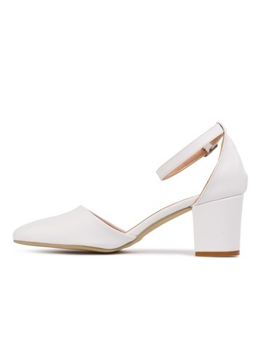 Maje 1901 Ten Kadın Topuklu Ayakkabı Beyaz